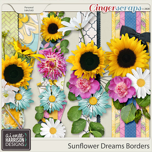 Sunflower Dreams Borders by Aimee Harrison