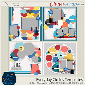 Everyday Circles Templates by Miss Fish