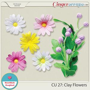 CU 27 - Clay flowers