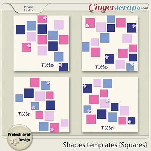 Shapes templates {Squares}