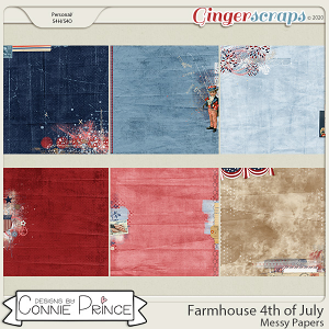 Farmhouse 4th of July - Messy Papers by Connie Prince