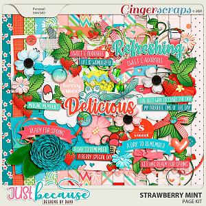 Strawberry Mint Page Kit by JB Studio