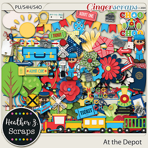 At the Depot ELEMENTS by Heather Z Scraps