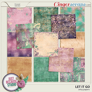 Let It Go Artsy Papers by JB Studio