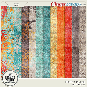 Happy Place Artsy Papers by JB Studio