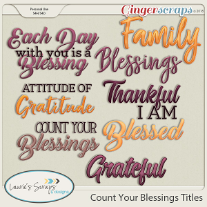 Count Your Blessings Titles