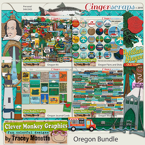 Oregon Bundle by Clever Monkey Graphics