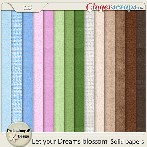 Let your Dreams blossom Solid papers