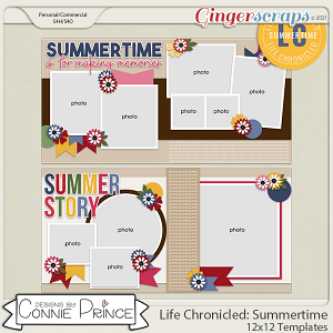 Life Chronicled: Summertime -  24x12 or 12x12 Templates (CU Ok) by Connie Prince