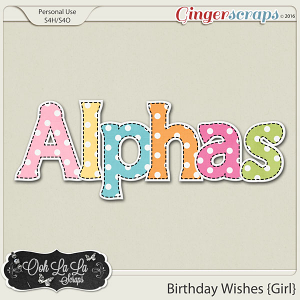 Birthday Wishes Girl Alphabets