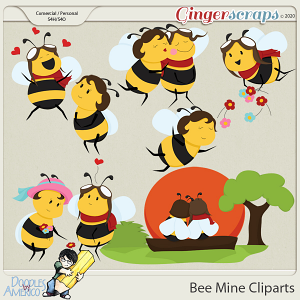 Doodles By Americo: Bee Mine Cliparts