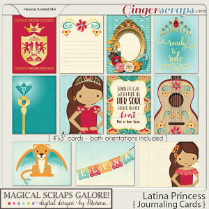 Latina Princess (journaling cards)