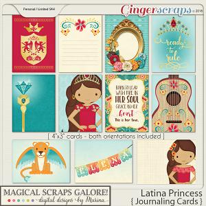 Latina Princess (journaling cards)