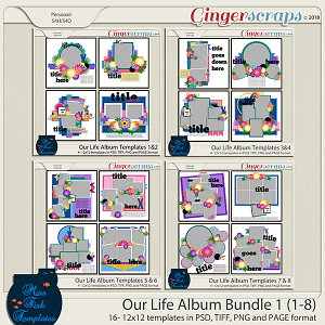 Our Life Templates Album Bundle 1 by Miss Fish