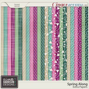Spring Along Extra Papers by Aimee Harrison