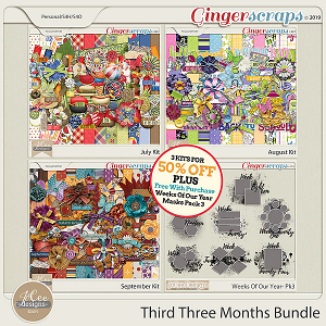 Third Three Months Bundle PLUS Free With Purchase by JoCee Designs