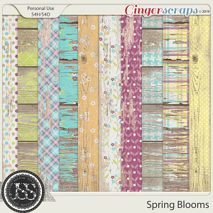 Spring Blooms Worn Wood Papers
