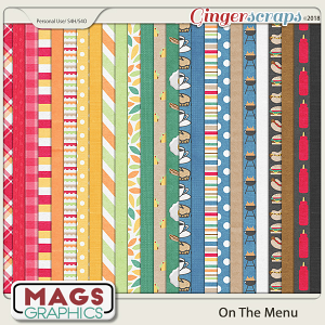 On The Menu PAPER Pack by MagsGraphics