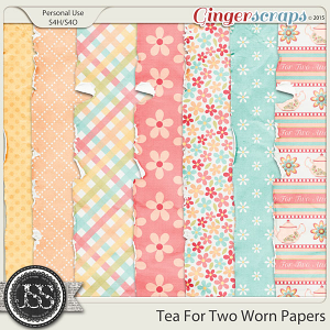 Tea For Two Worn Papers