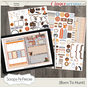 Born To Hunt Planner Pieces by Scraps N Pieces