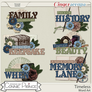 Timeless - Word Art Pack by Connie Prince
