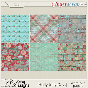 Holly Jolly Days: Worn Out Papers by LDragDesigns