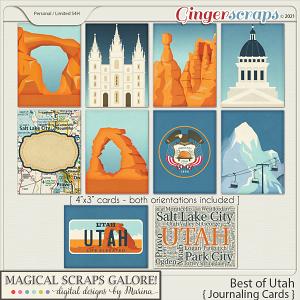 Best of Utah (journaling cards)