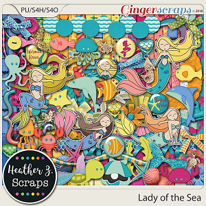 Lady of the Sea KIT by Heather Z Scraps