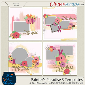 Painter's Paradise 3 Templates by Miss Fish