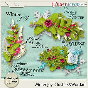 Winter joy Clusters & Wordart