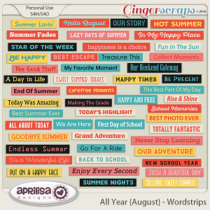 All Year {August} - Wordstrips