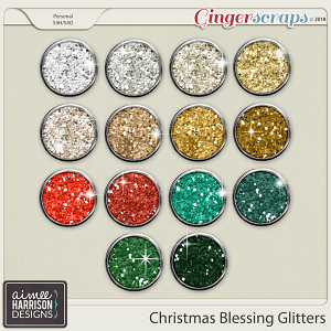 Christmas Blessing Glitters by Aimee Harrison