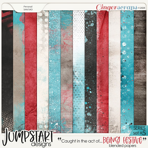 Caught in the act of: BEING FESTIVE {Blended Papers}