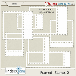 Framed Stamps 2 by Lindsay Jane