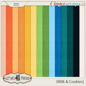 Milk and Cookies Cardstocks - Scraps N Pieces
