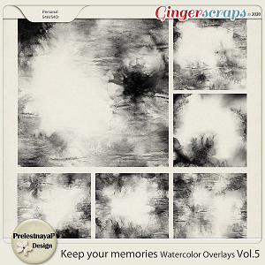 Keep your memories Watercolor Overlays Vol.5