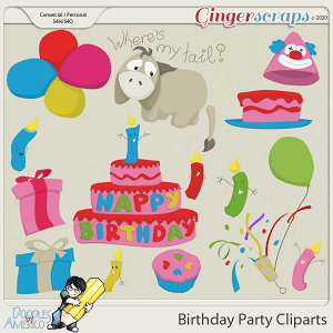 Doodles By Americo: Birthday Party Cliparts