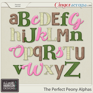 The Perfect Peony Alpha Sets by Aimee Harrison