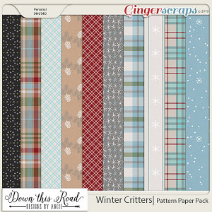 Winter Critters | Pattern Paper Pack