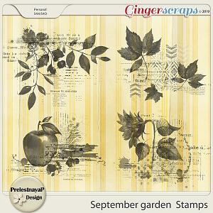 September garden Stamps