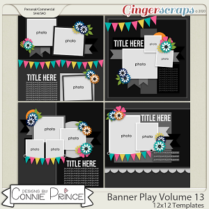 Banner Play Volume 13 - 12x12 Temps (CU Ok) by Connie Prince