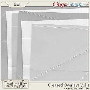 Creased Overlays Vol 1 by Tami Miller Designs