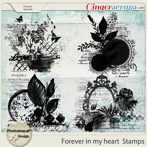 Forever in my heart Stamps