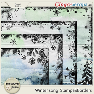 Winter song Stamps & Borders