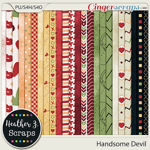 Handsome Devil PAPERS by Heather Z Scraps