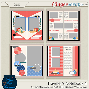 Traveler's Notebook 4 Templates by Miss Fish