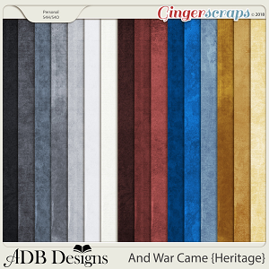 And War Came Heritage Cardstock Solids