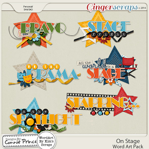On Stage - WordArt Pack