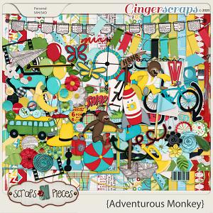 Adventurous Monkey kit by Scraps N Pieces