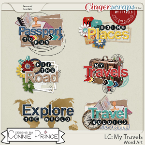 Life Chronicled: My Travels - Word Art Pack by Connie Prince